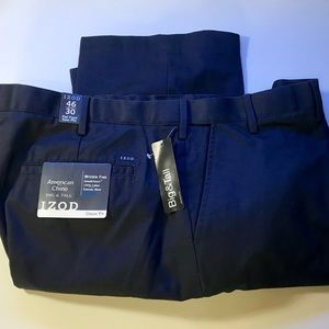 Izod Big and Tall American Chino, Navy, 46W, 30L